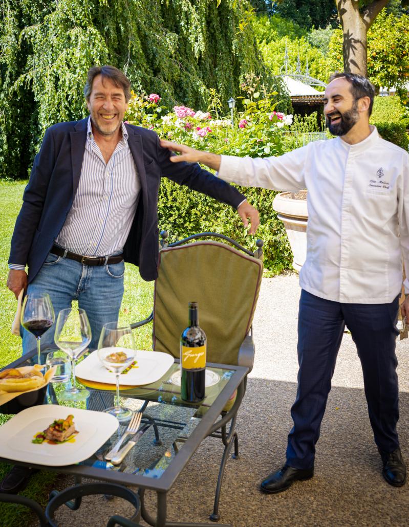 Giampaolo Motta e lo chef Vito Mollica